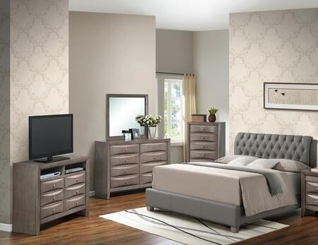Glory Furniture G1505CKBUPCHDMTV2 G1505 King Bedroom Sets