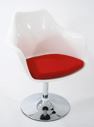 Fine Mod Imports FMI2128WHITERED Lilly Series Commercial or Residential Suede Upholstered Bar Stool