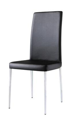 Armen Living LCPOSIX Posto Side Chair with Sleek Modern Design, Stainless Steel Construction and Supple Leatherette Upholstery in
