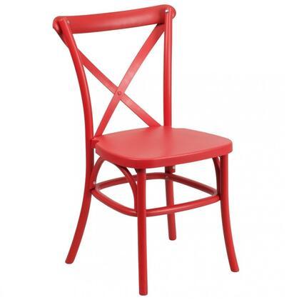 Flash Furniture LE9RDGG Hercules Series  Metal Frame  Patio Side Chair