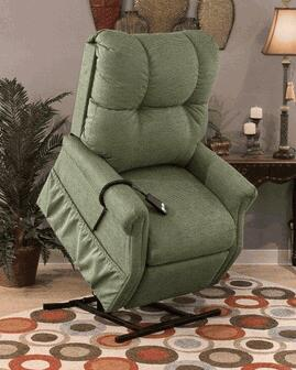 Medlift 1155DS Traditional Vinal Wood Frame  Recliners