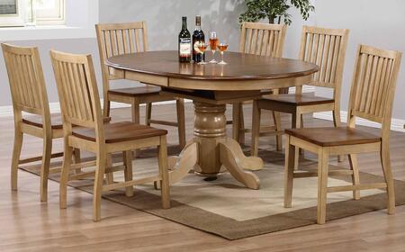 Sunset Trading DLUBR4260C60PW7PC Brook Dining Room Sets
