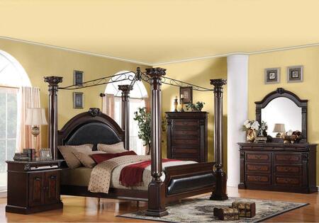 Acme Furniture 19333EK6PCSET Roman Empire King Bedroom Sets
