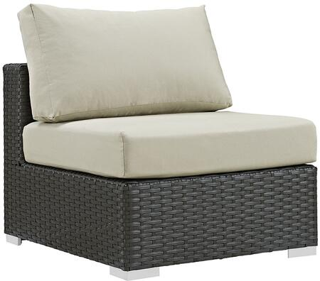 Modway EEI1854CHCBEI Sojourn Series  Aluminum Frame  Patio Chair