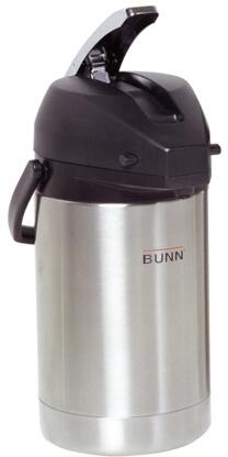 Bunn-O-Matic 32125.0X00 2.5L Lever Action Airpot Portable Server With Lever Action, Stainless Steel Airpot Liner, Black Lid Cover, in Stainless Steel