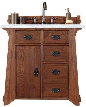 "James Martin Pasadena Collection 250-V36-ANO- 36"" Antique Oak Single Vanity with One Soft Close Door, Four Soft Close Drawers, Antique Pewter Hardware and"