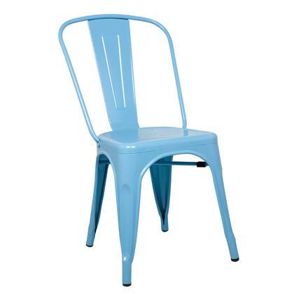Fine Mod Imports FMI10014BLUE Talix Series  Metal Frame  Patio Chair
