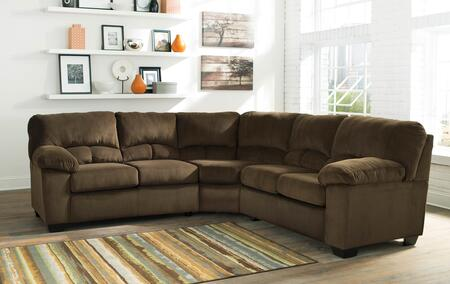 Sectional Sofa in Chocolate Brown