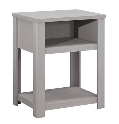 Signature Design by Ashley Javarin Collection B171-X90 Night Table with 1 Top Shelf, 1 Bottom Shelf and Clean-Line Design in
