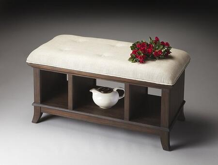 Butler 1236275 Accent Armless Wood Fabric Bench