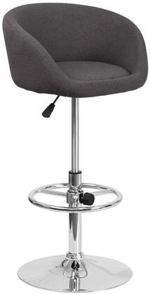 Flash Furniture CHTC31066LBKFABGG Residential Fabric Upholstered Bar Stool