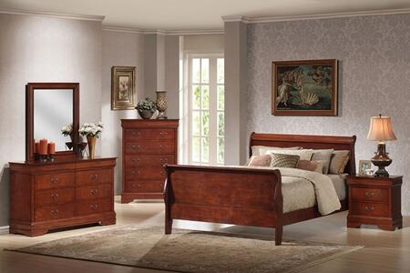 Acme Furniture 09800Q Louis Philippe II Series  Queen Size Sleigh Bed