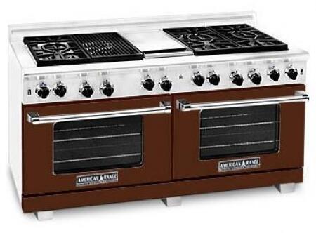 American Range ARR6062GDLHB Heritage Classic Series Liquid Propane Freestanding Range with Sealed Burner Cooktop, 4.8 cu. ft. Primary Oven Capacity, in Brown