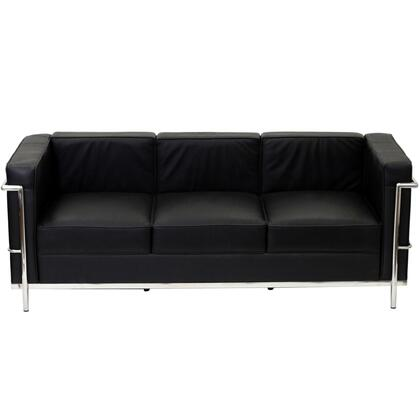 Modway EEI128BLK Charles Series Stationary Leather Sofa