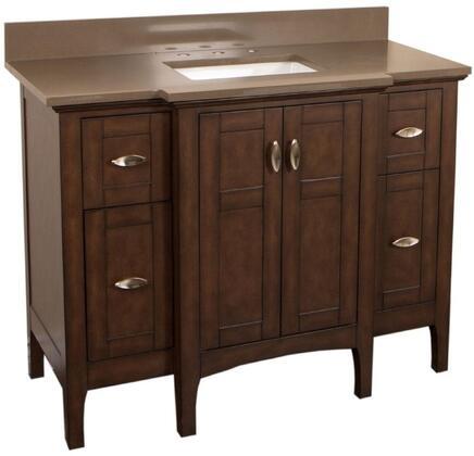 "Bellaterra Home 7614SWX 45"" Single Sink Vanity in Sable Walnut"