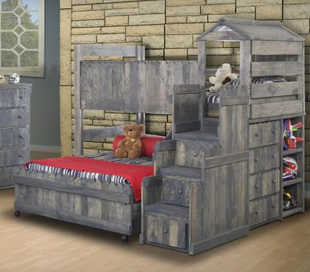 Chelsea Home Furniture 35142694274  Twin Over Full Size Loft Bed
