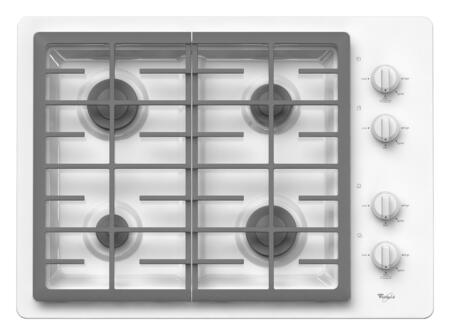 Whirlpool W5CG3024XW  Gas Sealed Burner Style Cooktop, in White