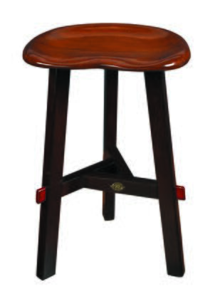 Authentic Models MF1X Artisan Stool with Pine & MDF Material, in Honey & Black Distressed French Finish
