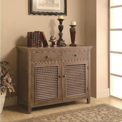 Coaster 950110 Accent Cabinets Series Freestanding Wood 2 Drawers Cabinet