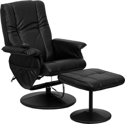 Flash Furniture BT7600PMASSAGEBKGG Massages Back, Lumbar, Thighs and Legs Heat Massage Chair