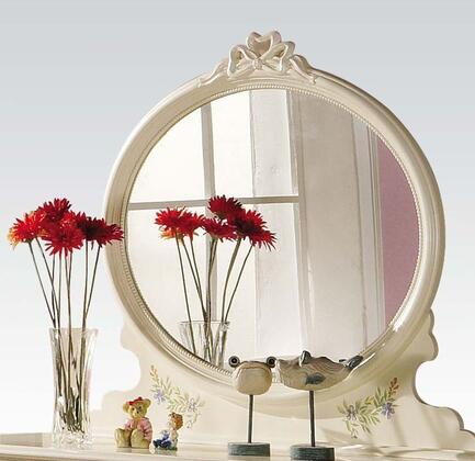 Acme Furniture 02215 Doll House Series Oval Portrait Dresser Mirror