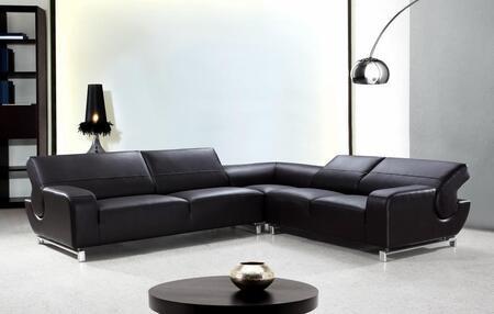 VIG Furniture VG2T0626 Motif Series  Leather Match Sofa