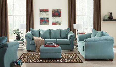 Milo Italia MI7909SLCSKY Tristian Living Room Sets