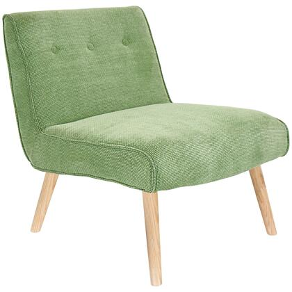 "LumiSource Vintage Neo CHR-AH-VNEO 30"" Chair with Button-Tufted Back, Tapered Wood Legs and Chenille Fabric Upholstery in"