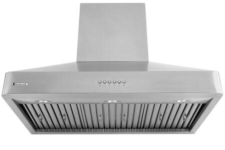 """XtremeAir Deluxe Series DL08-W XX"""" Wall Mount Ducted Range Hood With X CFM, 4-Speeds Electronic Soft Press Buttons, Dishwasher Safe Baffle Filters, LED Lighting and Auto-Shutoff in Stainless Steel"""