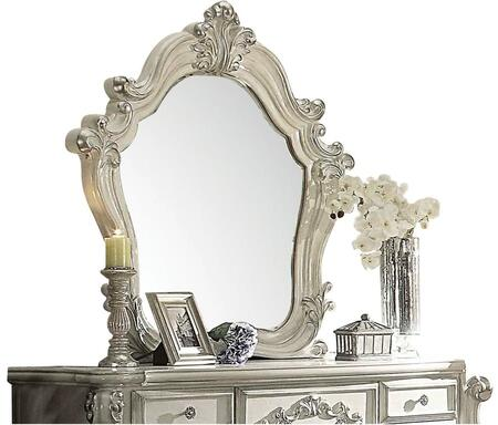 Acme Furniture 211M Versailles Beveled Mirror with Solid Wood Construction, Scrolled and Carved Frame in