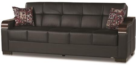 "Casamode Uptown Collection UPTOWN SOFABED 86"" Sofa Bed with Wooden Arms, Tufted Detailing, Under Seat Storage and"