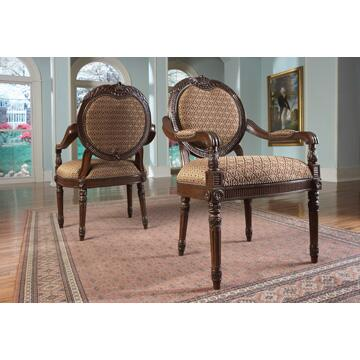 Ambella 00224700003  Fabric Wood Frame Accent Chair