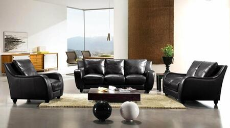 VIG Furniture VGCA2540- Divani Casa Bremen Sofa Set with Tapered Legs and Full Leather Upholstery in