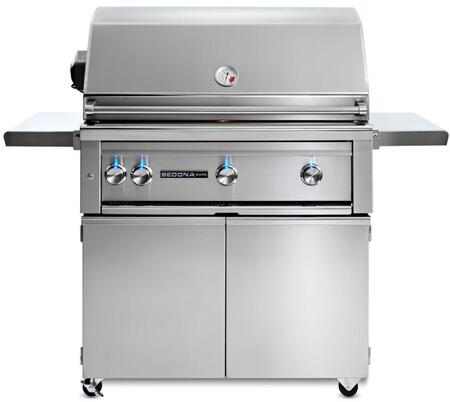"Lynx L600PSFRNG Freestanding 56"" Natural Gas Grill, in Stainless Steel"