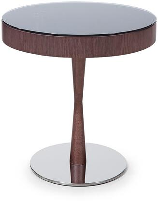 VIG Furniture VGWCM512T Modrest Jackson Series Modern Veneers Round None Drawers End Table
