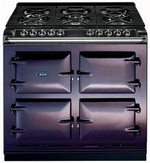 AGA A64NGAUB Six-Four Series Dual Fuel Freestanding Range with Sealed Burner Cooktop, 4.5 cu. ft. Primary Oven Capacity, in Aubergine