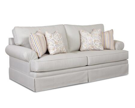 """Klaussner Napatree Collection K73700-S- 91"""" Sofa with Welted Details, Rolled Arms and Four Arm Pillows in"""