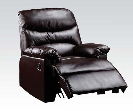 "Acme Furniture Arcadia 38"" Glider Recliner with Overstuffed Pillow Top Arms, Split Back Cushion, Solid Wood Construction and Bonded Leather Upholstery in Color"