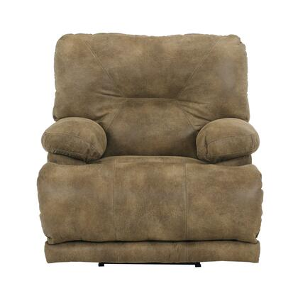 """Catnapper Voyager Collection 42"""" Lay Flat Recliner with Sewn Tufted Back, Comfort Coil Standard Cushion and Polyester Faux Leather Fabric Upholstery"""