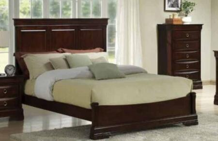 Yuan Tai LE3400 Lexington Panel Bed in Merlot Finish