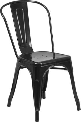 Flash Furniture CH-31230 Metal Indoor-Outdoor Stackable Chair