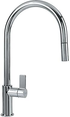 Franke Ambient Series FF31 Pull-Down Nozzle Spray Faucet with Full and Needle Spray and Ceramic Cartridge in