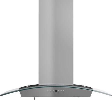 Z Line KZCRN-3x Wall Mount Chimney Style Range Hood with 760 CFM Blower, 52 dBA, 4 Fan Speeds, Delayed Shutoff, and Stainless Steel Baffle Filters, in Stainless Steel