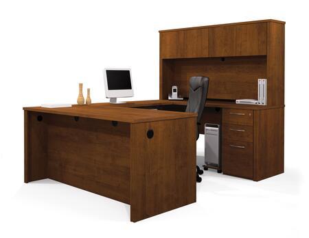 Bestar Furniture 60876 Embassy U-shaped worksation kit including assembled pedestal