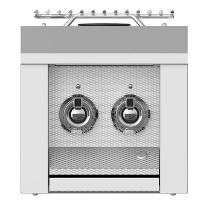 "Hestan AEB12NG 12"" Built In Double Side Natural Gas Burner with 2 Burners, in"