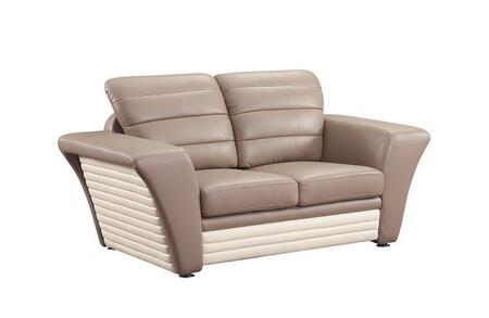 Global Furniture USA A163R2VL Leather  with Metal Frame Loveseat