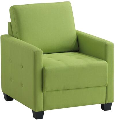 Glory Furniture G771C Fabric Armchair in Lime Green