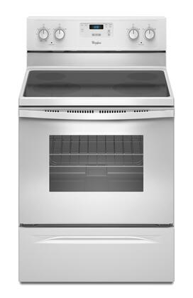 "Whirlpool WFE320M0AW 30"" Electric Freestanding Range with Smoothtop Cooktop, 4.8 cu. ft. Primary Oven Capacity, Storage in White"