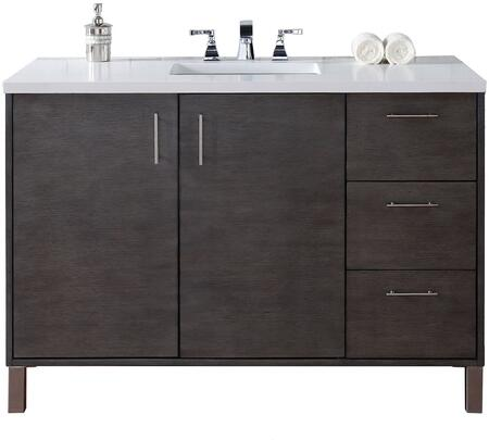 "James Martin Metropolitan Collection 850-V48-SOK- 48"" Silver Oak Single Vanity with Two Soft Close Doors, Three Soft Close Drawers, Chrome Hardware and"