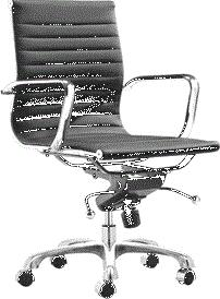 "Fine Mod Imports FMI10060BLACK 25"" Adjustable Contemporary Office Chair"